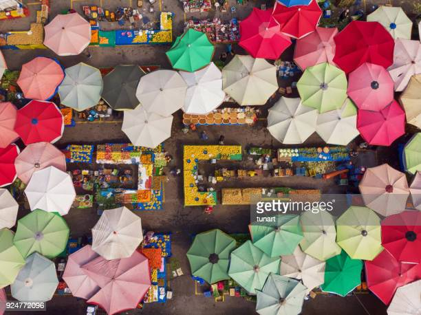 directly above view of a neighborhood market in turkey - turkey middle east stock pictures, royalty-free photos & images