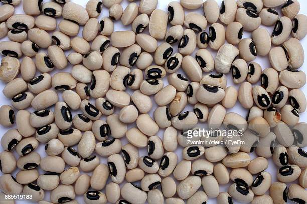 directly above view of black-eyed peas - black eyed peas food stock pictures, royalty-free photos & images