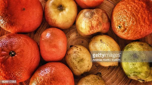 Directly Above View Of Fruits In Container