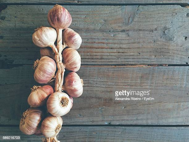 Directly Above View Of Garlic On Table