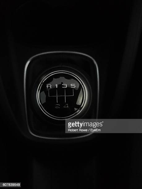 Directly Above View Of Gearshift In Car