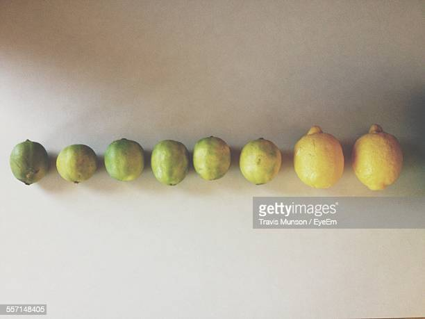 Directly Above View Of Lemons On Table