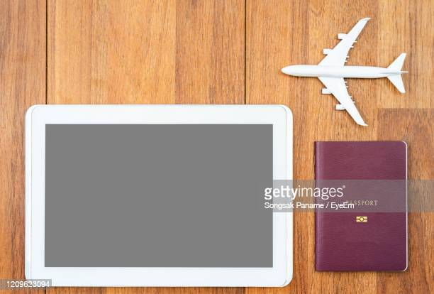 directly above view of mobile phone on table - id card template stock pictures, royalty-free photos & images