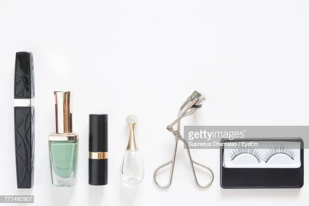 Directly Above View Of Objects On White Background