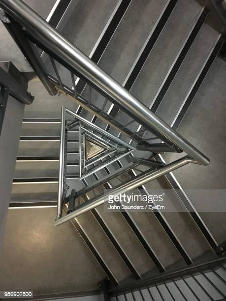 directly above view of spiral staircase - portsmouth england stock pictures, royalty-free photos & images