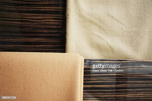 Directly Above View Of Towels On Table