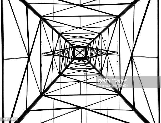 Directly Below Shot Of Electricity Pylon