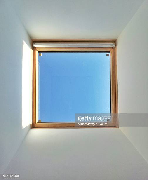 Directly Below Shot Of Skylight