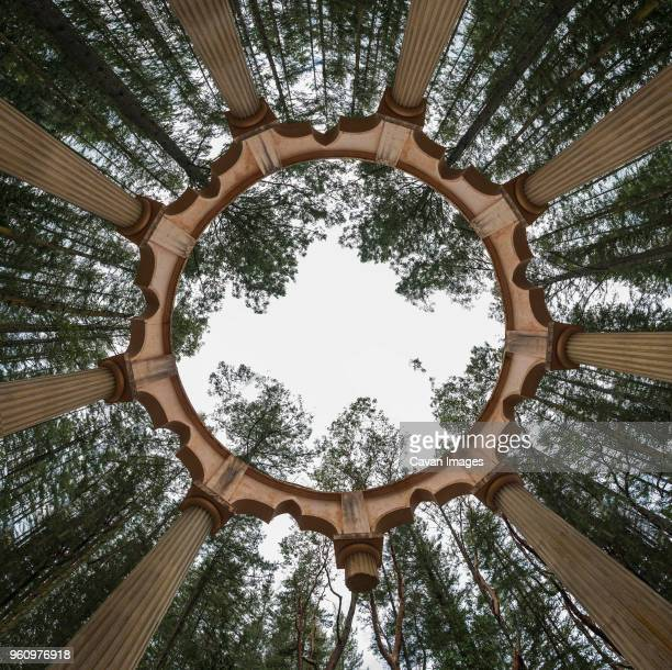 directly below view of afterglow vista at san juan island - mausoleum stock pictures, royalty-free photos & images