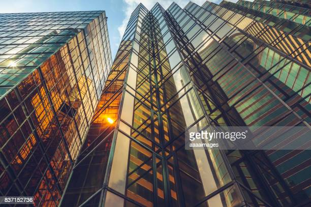 directly below view of modern golden architecture - buildings stock pictures, royalty-free photos & images
