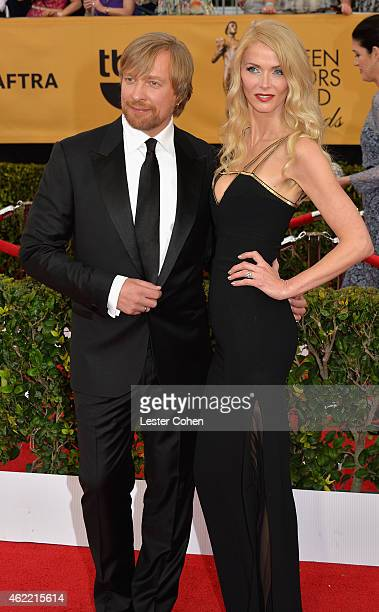 Directo Morten Tyldum and Janne Tyldum attend the 21st Annual Screen Actors Guild Awards at The Shrine Auditorium on January 25 2015 in Los Angeles...