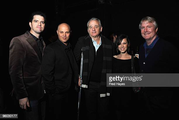 Director Aaron Schneider actor Joey Rappa actor Bill Murray actress Beth Edgeman and producer David Gundlach attend the Get Low premiere at Rose...