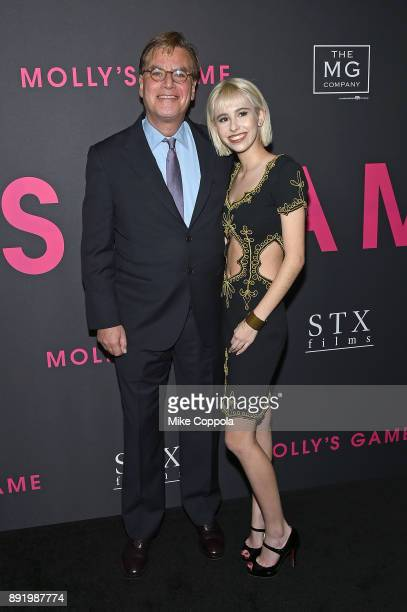 """Director Aaron Sorkin and daughter Roxy Sorkin attend """"Molly's Game"""" New York Premiere at AMC Loews Lincoln Square on December 13, 2017 in New York..."""