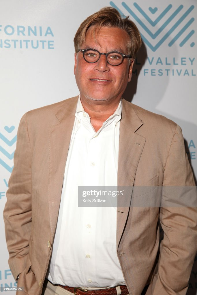 Director Aaron Sorkin arrives on the red carpet for 'Molly's Game' during the Mill Valley Film Festival at Christopher B. Smith Rafael Film Center on October 11, 2017 in San Rafael, California.