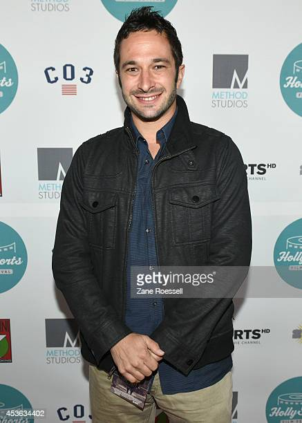 Director Aaron Wolf arrives at 10th Anniversary HollyShorts Opening Night Gala at TCL Chinese Theatre on August 14 2014 in Hollywood California