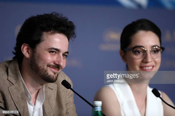Director AB Shawky and actress Shahira Fahmy attend the press conference for 'Yomeddine' during the 71st annual Cannes Film Festival at Palais des...