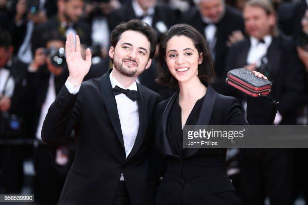 Director AB Shawky and and producer Dina Emam attend the screening of 'Yomeddine' during the 71st annual Cannes Film Festival at Palais des Festivals...