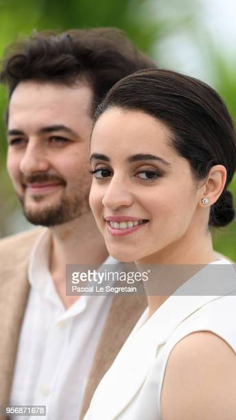 Director AB Shawky and atress Shahira Fahmy attend the photocall for 'Yomeddine' during the 71st annual Cannes Film Festival at Palais des Festivals...