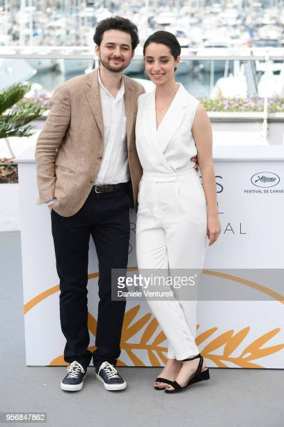 Director AB Shawky and Dina Emam attend the photocall for 'Yomeddine' during the 71st annual Cannes Film Festival at Palais des Festivals on May 10...