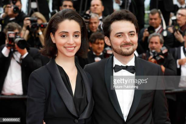 CANNES FRANCE MAY Director AB Shawky and Elisabeth ShawkyArneitz at the 'Yomeddine' premiere during the 71st Cannes Film Festival at the Palais des...