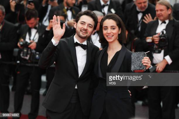 Director AB Shawky and wife producer Dina Emam attend the screening of 'Yomeddine' during the 71st annual Cannes Film Festival at Palais des...