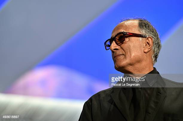 Director Abbas Kiarostami attends the Closing Ceremony at the 67th Annual Cannes Film Festival on May 24 2014 in Cannes France