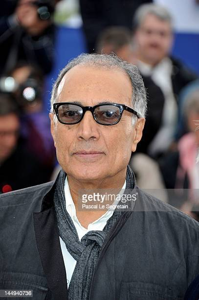 Director Abbas Kiarostami poses at the Like Someone in Love photocall during the 65th Annual Cannes Film Festival at Palais des Festivals on May 21...