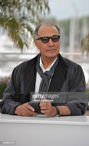 Director Abbas Kiarostami poses at the 'Like Someone in Love' photocall during the 65th Annual Cannes Film Festival at Palais des Festivals on May 21...