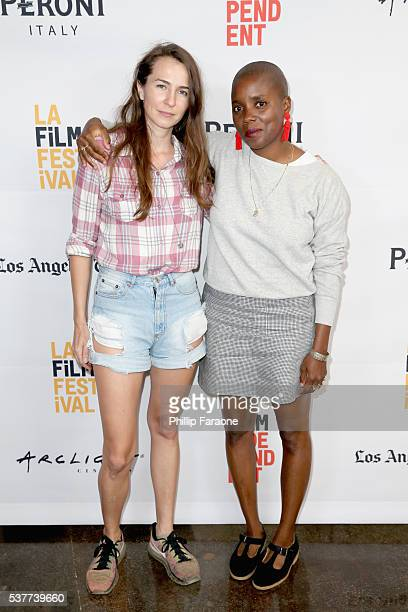 Director Abbey Luck and Director Janicza Bravo attend Short Programs 3 during the 2016 Los Angeles Film Festival at Arclight Cinemas Culver City on...