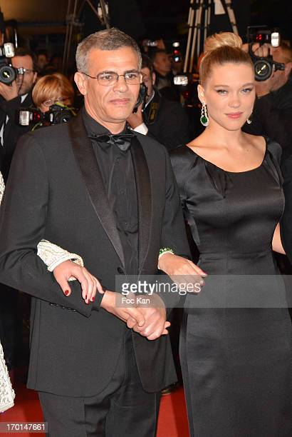 Director Abdellatif Kechiche and Lea Seydoux attend the 'La Vie D'Adele Chapitre 1 2 Blue Is The Warmest Color' Premiere The 66th Annual Cannes Film...