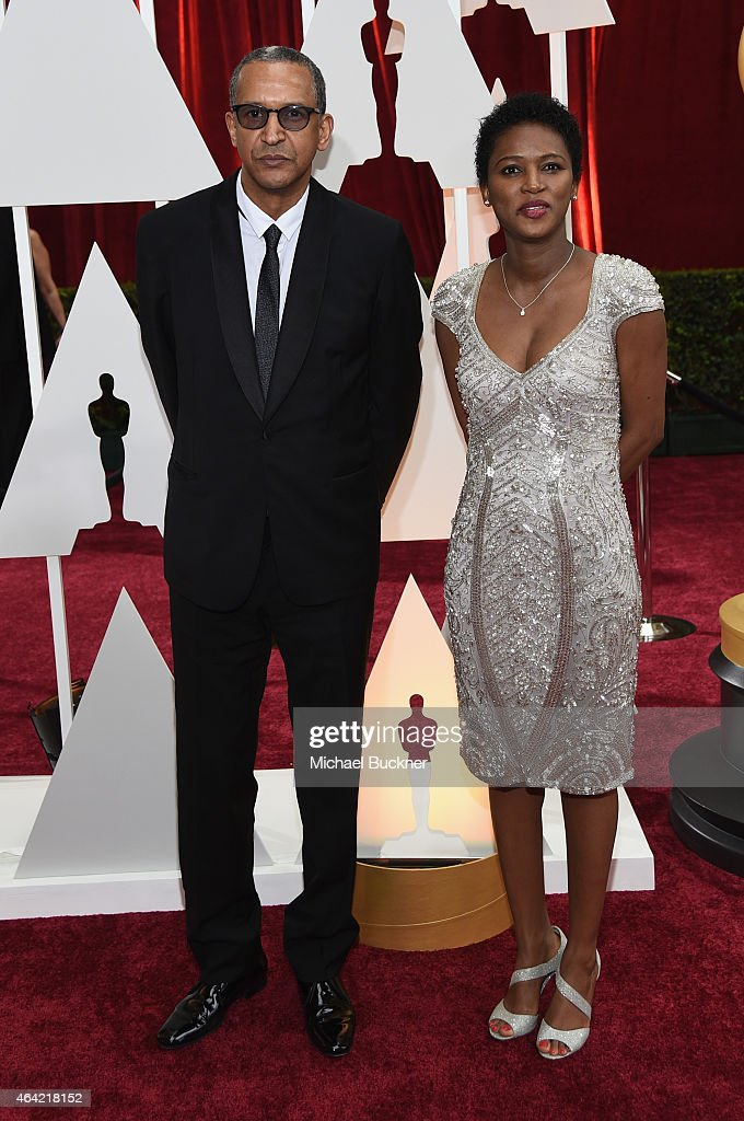 Director Abderrahmane Sissako (L) attends the 87th Annual Academy Awards at Hollywood & Highland Center on February 22, 2015 in Hollywood, California.