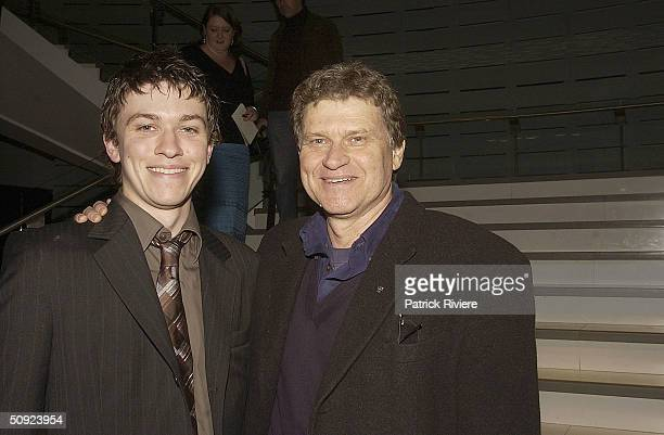 Director Abe Forsythe and his father actor Drew Forsythe attend the opening night of The Unlikely Prospect Of Happiness at the Sydney Theatre June 3...
