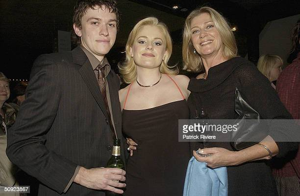 Director Abe Forsythe with girlfriend actress Helen Dalleymore and actress Tina Bursill attend the opening night of The Unlikely Prospect Of...