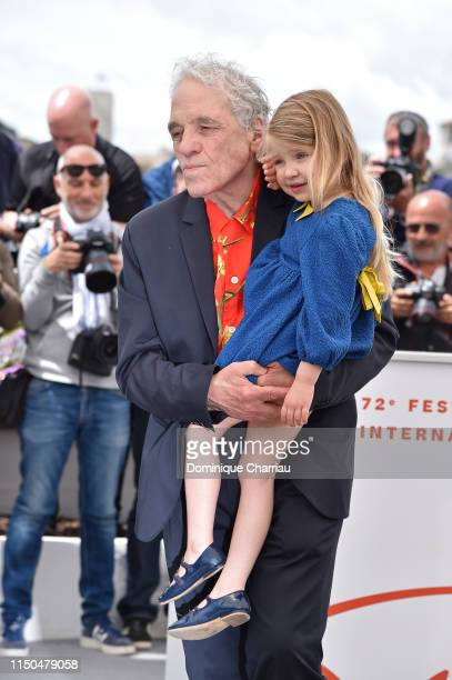 Director Abel Ferrara and Anna Ferrara attend the photocall for Tommaso during the 72nd annual Cannes Film Festival on May 20 2019 in Cannes France