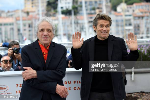 US director Abel Ferrara and US actor Willem Dafoe pose during a photocall for the film Tommaso at the 72nd edition of the Cannes Film Festival in...