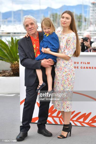 Director Abel Ferrara Anna Ferrara and Cristina Chiriac attend the photocall for Tommaso during the 72nd annual Cannes Film Festival on May 20 2019...
