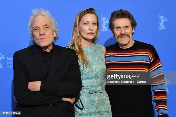 "Director Abel Ferrara, Dounia Sichov and Willem Dafoe attend the ""Siberia"" photo call during the 70th Berlinale International Film Festival Berlin at..."