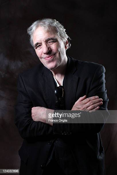 Director Abel Ferrara poses at the 444 Last Day on Earth portrait session during the 68th Venice Film Festival at Lancia Cafe on September 7 2011 in...