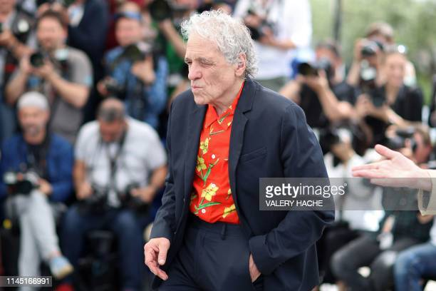 US director Abel Ferrara poses during a photocall for the film Tommaso at the 72nd edition of the Cannes Film Festival in Cannes southern France on...