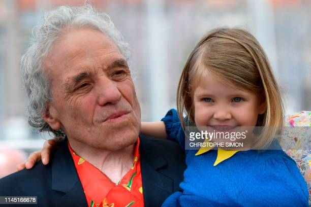 US director Abel Ferrara poses with his daughter US actress Anna Ferrara during a photocall for the film Tommaso at the 72nd edition of the Cannes...
