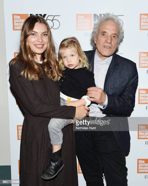 Director Abel Ferrara poses with his wife Christina Ferrara and their daughter at the 55th New York Film Festival presentation of 'Piazza Vittorio'...