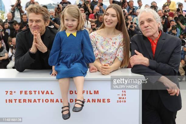 US director Abel Ferrara poses with his wife Moldovan actress Cristina ChiriacFerrara and daughter US actress Anna Ferrara and US actor Willem Dafoe...