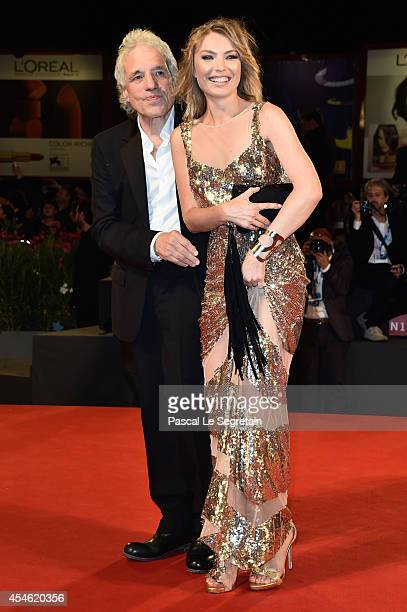 Director Abel Ferrara with wife Cristina Chiriac attend 'Pasolini' Premiere during the 71st Venice Film Festival on September 4 2014 in Venice Italy