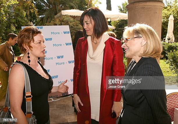 Director Abigail Zealey Bess president of Women in Film Jane Fleming and executive director of Women in Film Gayle Nachlis at the More Magazine and...