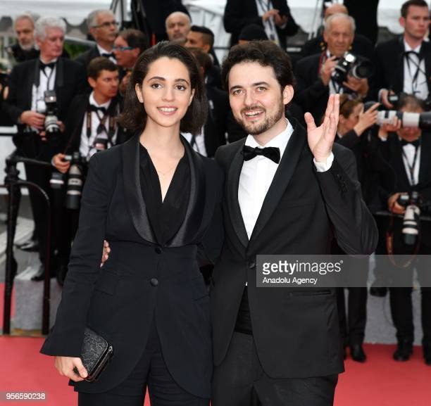 Director Abu Bakr Shawky and producer Dina Emam arrive for the screening of the film 'Yomeddine' during the 71st Cannes Film Festival in Cannes...