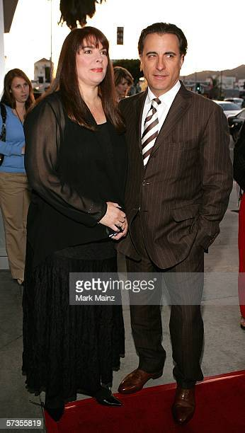 Director actor Andy Garcia and his wife Marivi Lorido Garcia attend the premiere of The Lost City at the Cinerama Dome April 17 2006 in Hollywood...