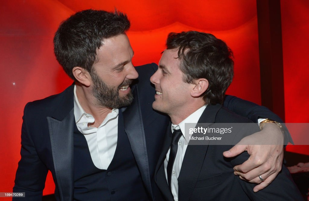 Director/ actor Ben Affleck and actor Casey Affleck attend the 2013 InStyle and Warner Bros. 70th Annual Golden Globe Awards Post-Party held at the Oasis Courtyard in The Beverly Hilton Hotel on January 13, 2013 in Beverly Hills, California.