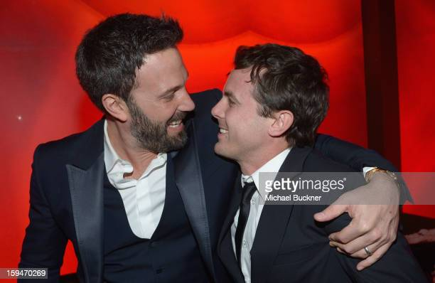 Director/ actor Ben Affleck and actor Casey Affleck attend the 2013 InStyle and Warner Bros 70th Annual Golden Globe Awards PostParty held at the...