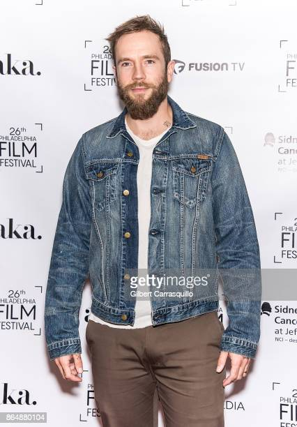 Director actor screenwriter Mark Webber attends the Red Carpet Premiere of Flesh and Blood during the 26th Philadelphia Film Festival at Prince...