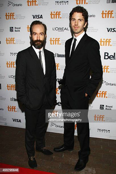 Director Adam Brooks and director Matthew Kennedy arrive at The Editor Premiere during the 2014 Toronto International Film Festival held at Ryerson...